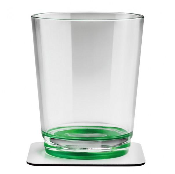 Silwy Magnetgläser mit Untersetzer 2er Set grün
