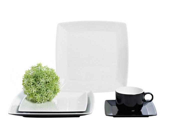 Quadrato Black and White Geschirr-Set 20-teilig