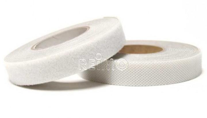 Klettband selbstklebend 20 mm weiß 5 Meter