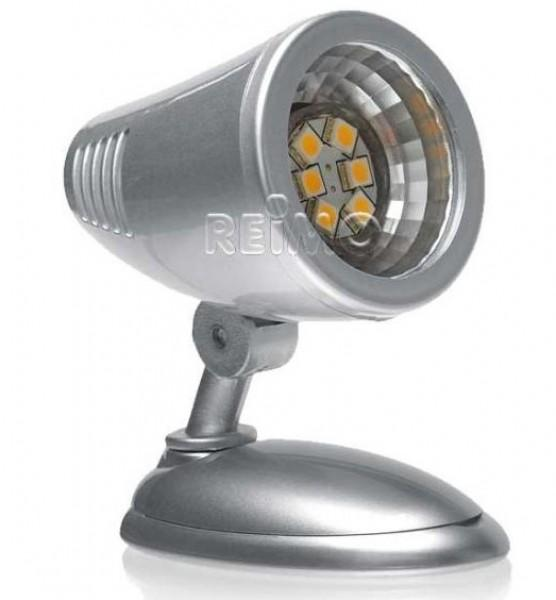 LED Aufbauspot 6 LED silber Kunststoff 1Watt