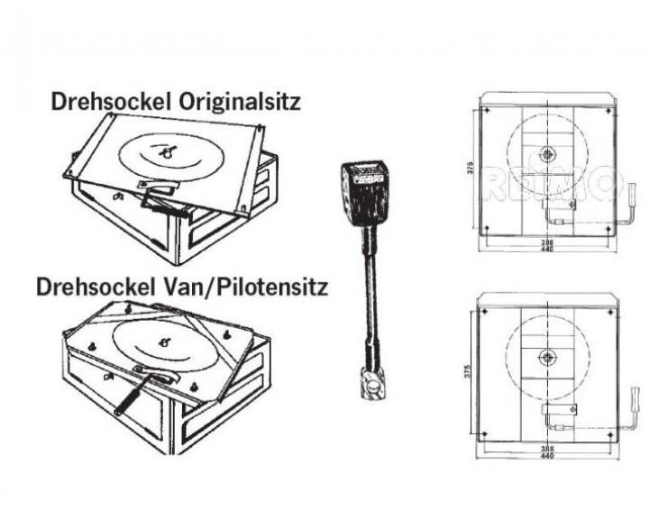 Handbremsadapter für VW T5-Safesockel