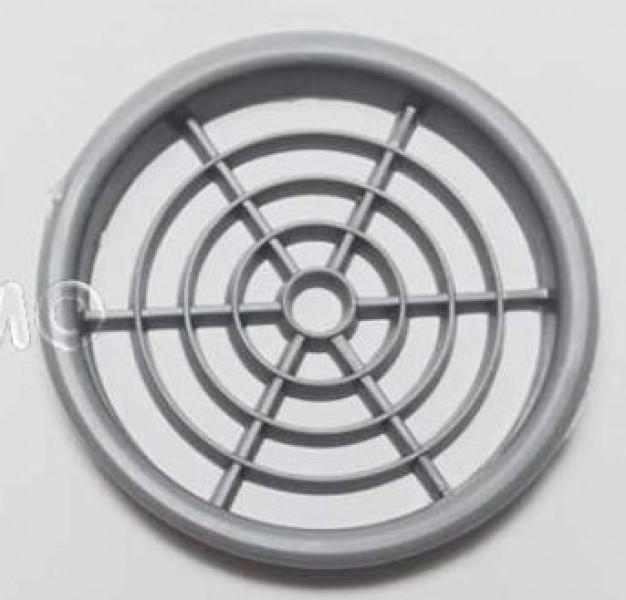 Möbellüftungsgitter 60 mm rund grau