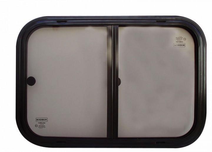 Sicherheitsglas Schiebefenster für Kastenwagen Rahmen schwarz