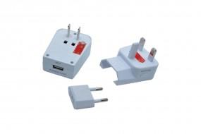 baladéo Universal-Adapter mit USB 'Miles'