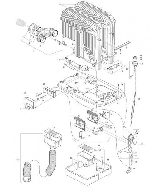 Schalenbrennersatz 30 mbar für S 5004