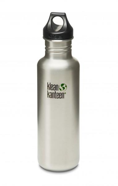 Klean Kanteen Flasche 'Classic' Loop Cap edelstahl, 0,8 L