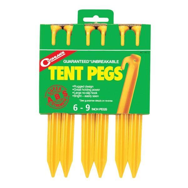 Coghlans Zelthering ABS, gelb 22 cm, 6er Pack