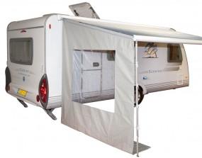Universal Markisen Seitenwand mit Fenster für Wohnwagen und Reisemobil 225 cm