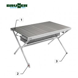Brunner Rollplatte komplett Tisch Titanium NG 6