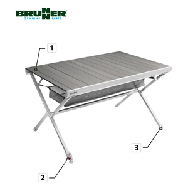 Brunner Endkappe Tischbein Titanium mit Niveauregulierung für NG 2-4-6