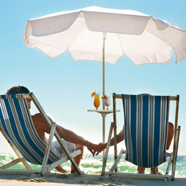 Mobiler Sonnenschirmtisch Sunny-table