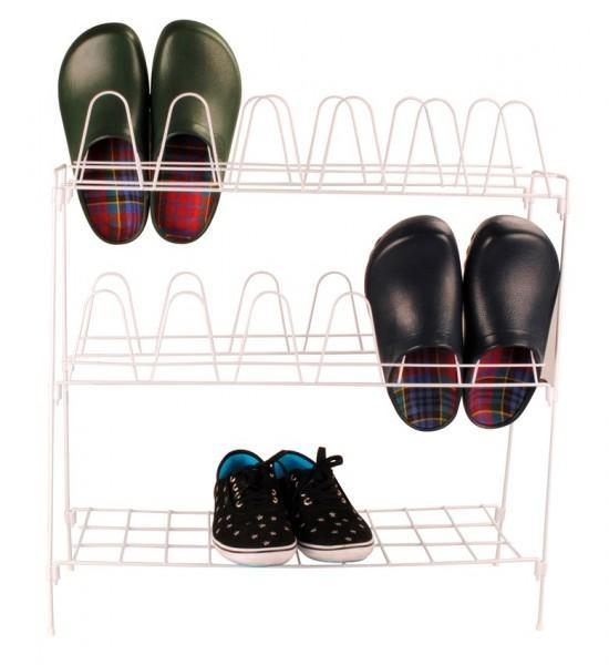 Schuhständer weiß 57 x 18 x 63 cm