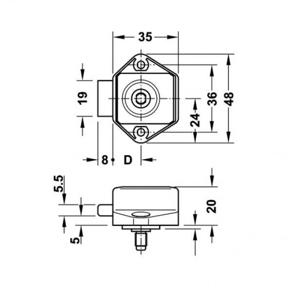 Mini PUSH-Lock-Schloss 5 x 3,3 x 4,5 cm braun