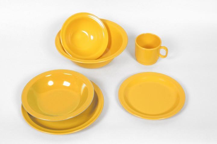 Waca Melamin, gelb Teller flach Ø 23,5 cm