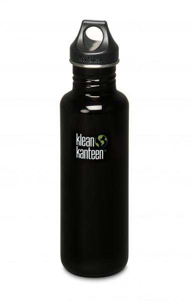 Klean Kanteen Flasche 'Classic' Loop Cap schwarz, 0,8 L