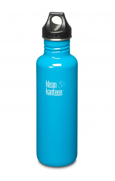 Klean Kanteen Flasche 'Classic' Loop Cap hellblau, 0,8 L