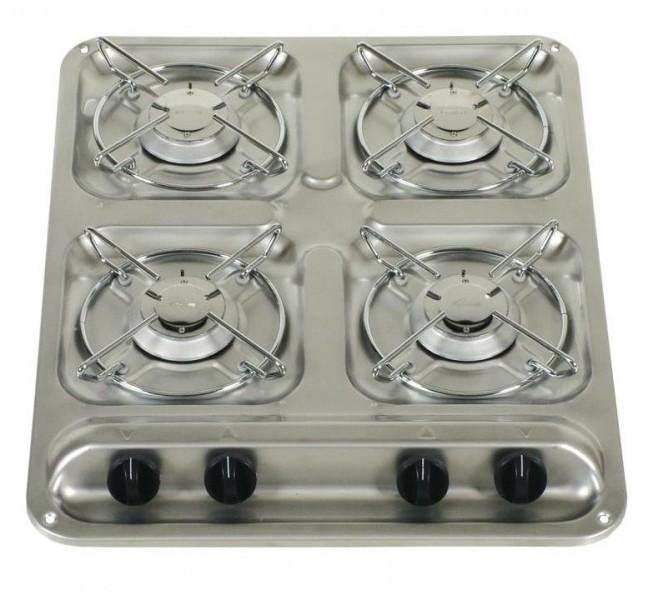 Dometic Cramer 4-Flamm-Kocher ohne Glasabdeckung 30 mbar