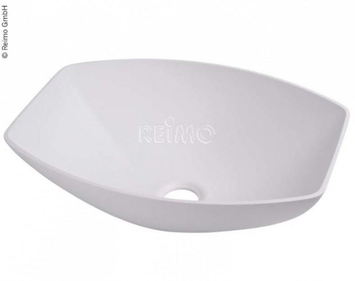 Design-Waschbecken semioval weiß B350xT260xH135 mm