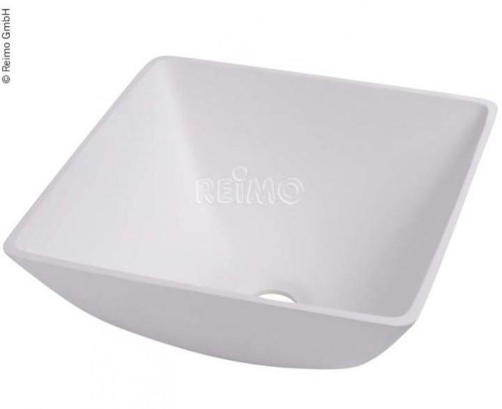 Design-Waschbecken Quadratisch weiß B330xT330xH135 mm