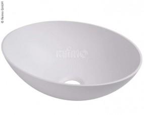 Waschbecken oval weiß B400xT290xH135 mm
