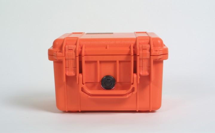 Pelibox 1300 orange mit Schaumeinsatz