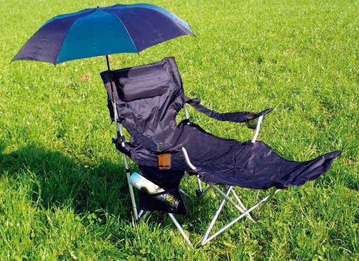 Sonnenschirm für Campingstühle schwarz-grün