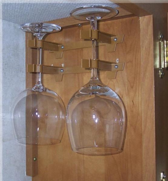 Mega-Klipp Doppelhalter Rotwein für 2 Gläser