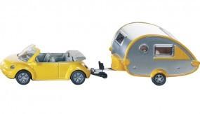 VW-Beetle Cabrio mit Tab-Wohnwagen