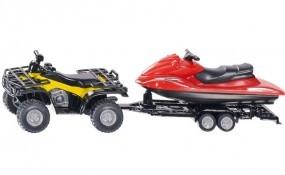 Quad mit Anhänger und Jet-Ski