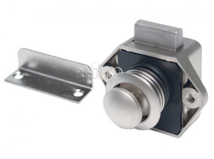 Push Lock Mini Möbelschloß Silber