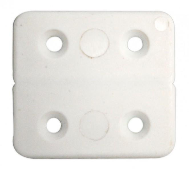 PVC-Scharniere 40 x 40 mm weiß