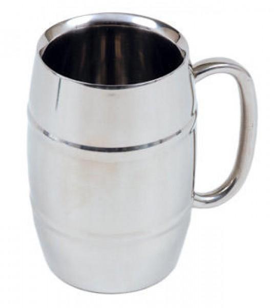 Bierhumpen aus Edelstahl 0,4 l