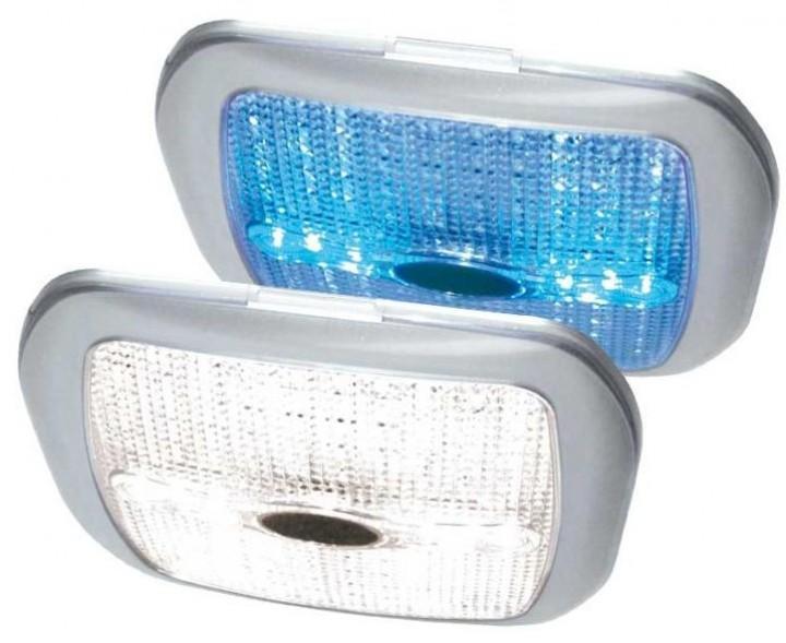 LED 12V Leuchte Quadrat silber