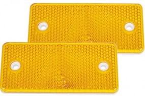 Reflektor gelb rechteckig 94 x 44 mm