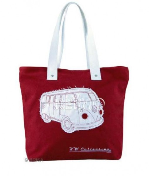 VW Collection Canvas Shopper Bag rot