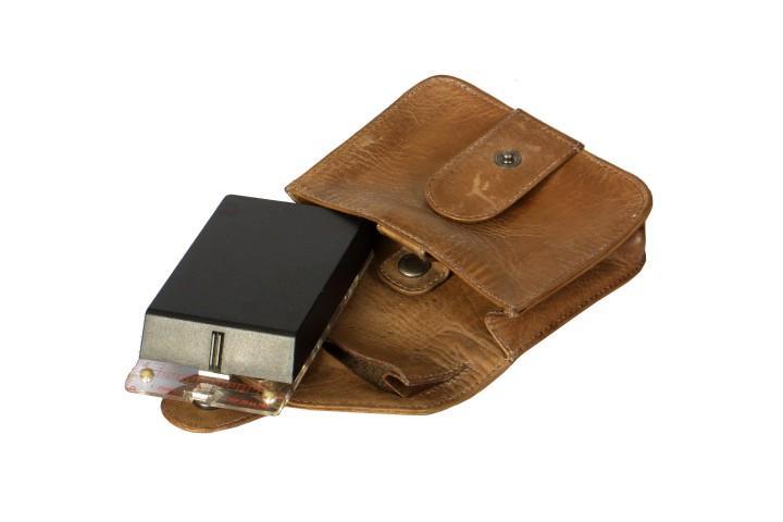 Leathersafe Gürteltasche Belt Case tabak