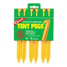Coghlans Zelthering ABS gelb 15 cm 6er Pack