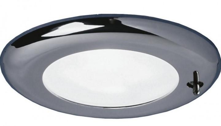 LED Einbauspot Nova chrom mit Schalter 12 Volt