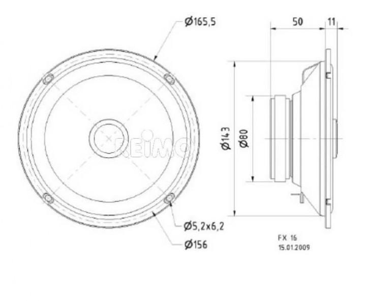 FX 16 2-Wege Koaxiallautsprecher mit Normkorb