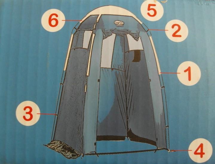 Lascar Plus Air Duschzelt oder Umkleidekabine