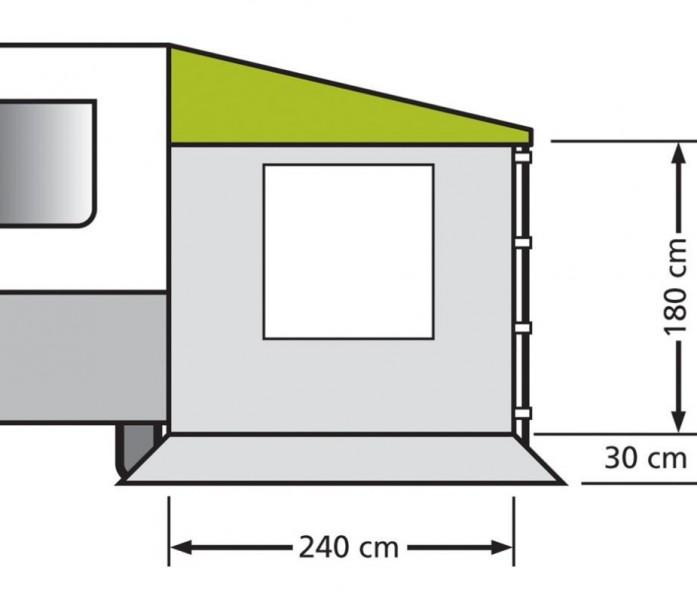 Kombi Seitenwand mit Fenster für Sonnendächer