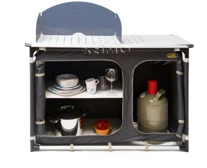 Cuccina Campingküche mit Spülbecken anthrazit
