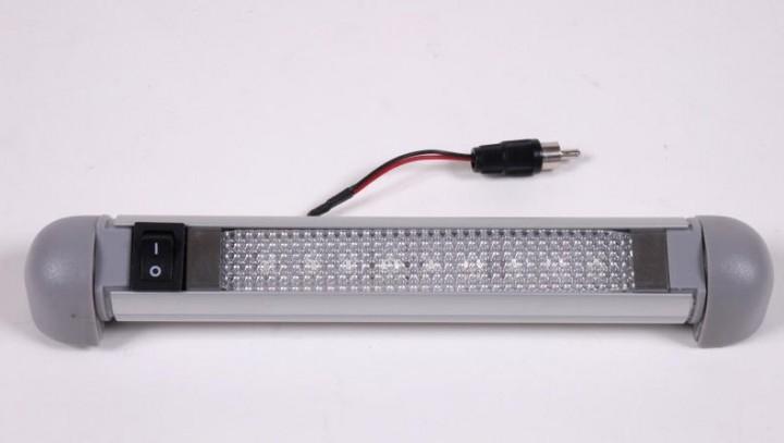 Carbest LED 12V Alu-Linienleuchte 9 LEDs schwenkbar 1 Watt