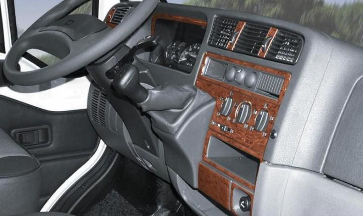 Armaturenbrett-Veredelung Wurzelholz für Ford Transit mit Beifahrerairbag ab Baujahr 05/2006