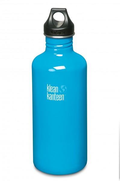 Klean Kanteen Flasche 'Classic' Loop Cap hellblau, 1,182 L