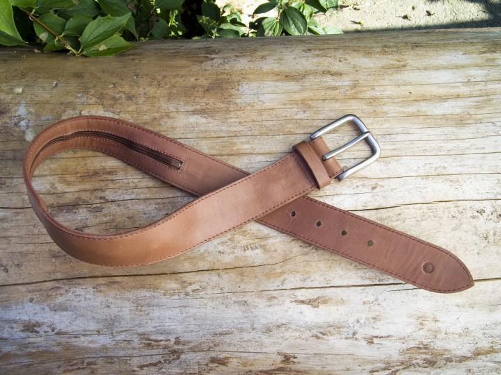 Leathersafe Geldgürtel 'Jungle', tabak 90 cm