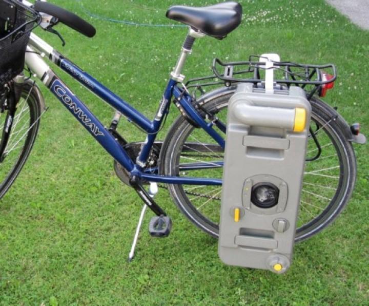 Klemmhalterung Fahrrad-Gepäckträger für Cassettentoiletten