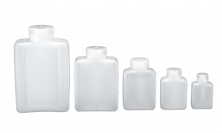 Nalgene Weithalsflaschen, rechteckig 250 ml, Hals Ø 30 mm