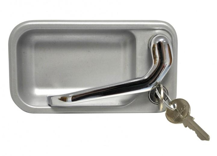 Aussenschloß für Metall-Türschloß waagrecht GX-System