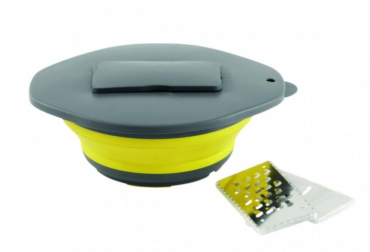 Outwell Schüssel mit Reibe Collaps gelb
